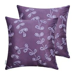 CaliTime Pack of 2 Faux Silk Throw Pillow Covers Cases for S