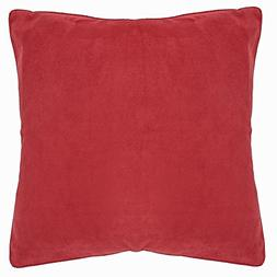DreamHome 26 X 26 Inches Faux Suede Decorative Euro Pillow C