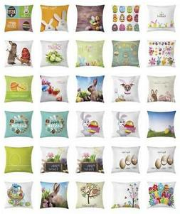Festive Easter Throw Pillow Cases Cushion Covers Home Decor