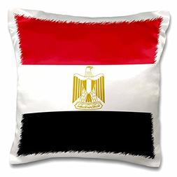3dRose Flag of Egypt - Egyptian red white black with gold na