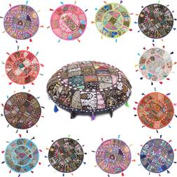 floor embroidered pillow cushion round meditation cover
