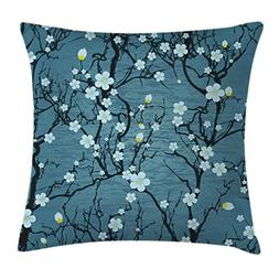 Ambesonne Floral Decor Throw Pillow Cushion Cover by, Sakura