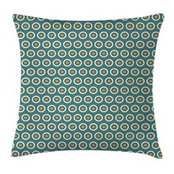 Ambesonne Floral Throw Pillow Cushion Cover, Ten Different R