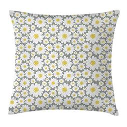 Ambesonne Floral Throw Pillow Cushion Cover by, Cartoon like