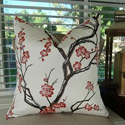 Thomas Collection Floral Throw Pillow, Japanese Blossom Thro