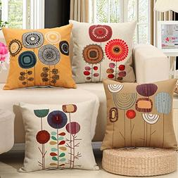 AENEY Flower Throw Pillow Covers Set of 4 Floral Spring Summ