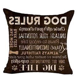 Acelive 18 x 18 inches Funny Sweet Warm Sayings Dog Rules Ch