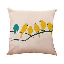 gbsell pillow cover bird in tree throw