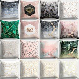 Geometric Printed Polyester Soft Elastic Throw Pillow Cases