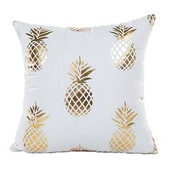4TH Emotion Gold Pineapple Throw Pillow Case Cushion Cover 1