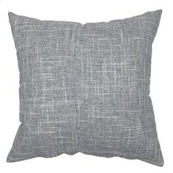 YOUR SMILE Pure Grey Square Decorative Throw Pillow Case Cus