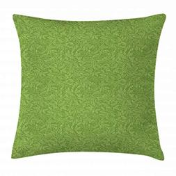 Ambesonne Green Throw Pillow Cushion Cover, Pattern with Sty