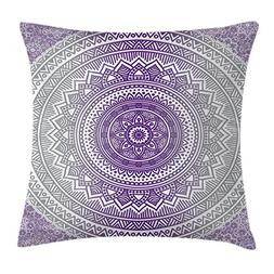 Ambesonne Grey and Purple Throw Pillow Cushion Cover, Easter