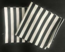 H&M Home Throw Pillow Covers Set Of 2 size 19x19  Black Whit
