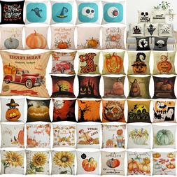 Halloween Pillows Cover Fall Decor Pillow Case Sofa Waist Th