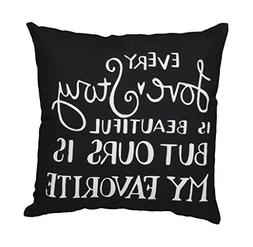 Primitives by Kathy Hand Lettered Throw Pillow, 15 x 15-Inch