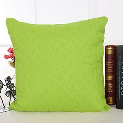 Deconovo Hand Made Throw Pillow Case Microfiber Embossed Cou