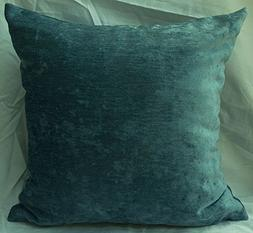 TangDepot Handmade Solid Chenille Decorative Throw Pillow Co