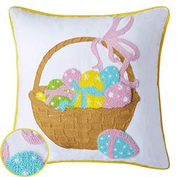 Cassie Home Happy Easter Day Throw Pillow Covers 18x18Inch 3