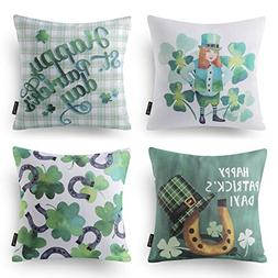 Phantoscope Happy St. Patrick Day Green Throw Pillow Cushion
