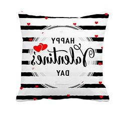 4TH Emotion Happy Valentine's Day Throw Pillow Cover Cushion
