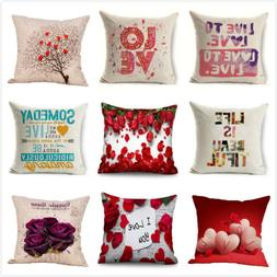 Happy Valentine's Day Throw Pillow Case Love Cushion Cover R