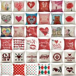 happy valentine s day throw pillow case