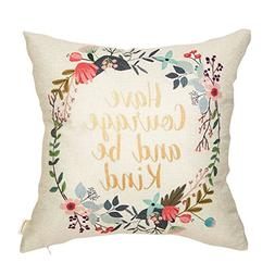 Fahrendom Have Courage and Be Kind Watercolor Wreath Nursery