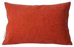 TangDepot Heavy Lined Linen Cushion Cover, Throw Pillow Cove