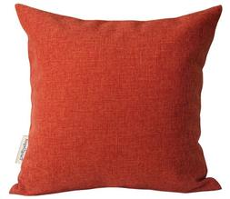 TangDepot Heavy Lined Linen Cushion Cover Throw Pillow Cover