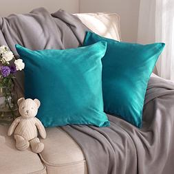 Deconovo Home Decorative Pillow Cover Super Soft Velvet Hand