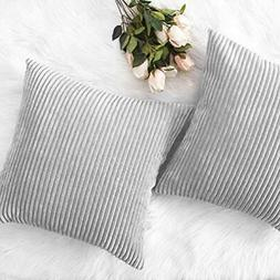 HOME Throw Pillow Covers BRILLIANT Decor Pillows Striped Vel