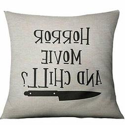 Horror Movie and Chill Pillows Covers 18x18inch Halloween Th