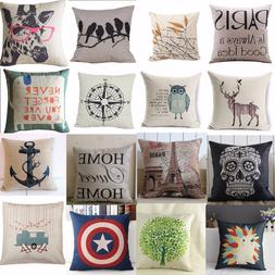 hot vintage home decor cotton linen pillow