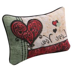 I Love You I Love You More Woven Tapestry Reversible Accent Pillow