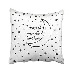 Capsceoll i love you to the moon and back Decorative Throw P