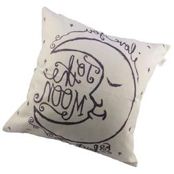 HOSL I Love You to The Moon and Back Square Decorative Throw