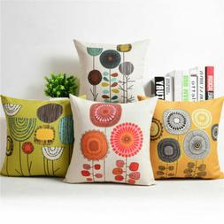 Idyll Dandelion Cotton Linen Pillow Case Sofa Throw Cushion
