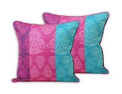 ShalinIndia Indian Spring Decor Print Cushion Pillow Covers