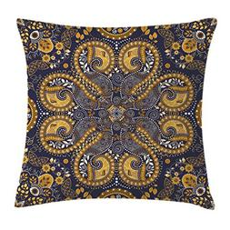 Indian Throw Pillow Cushion Cover by Ambesonne, Ethnic Patte