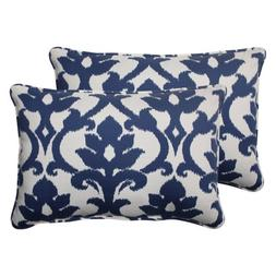 Pillow Perfect Indoor/Outdoor Bosco Corded Oversized Rectang