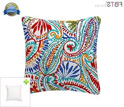 Indoor/Outdoor Throw Pillow with Insert 18x18 Inches Decorat