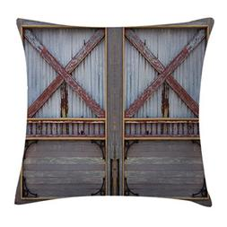 Ambesonne Industrial Throw Pillow Cushion Cover, Zinc Style