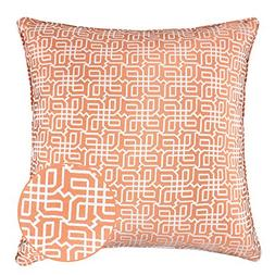 Homey Cozy Jacquard Plaid Throw Pillow Cover,Orange Textile