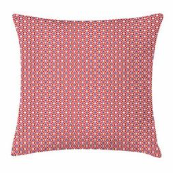 Ambesonne 4th of July Throw Pillow Cushion Cover, Circles wi