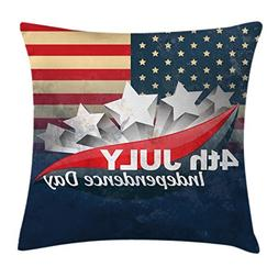 Ambesonne 4th of July Throw Pillow Cushion Cover, American F