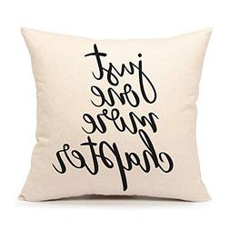just one more chapter throw pillow case