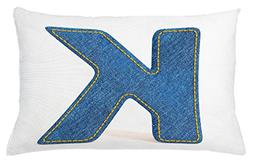 Ambesonne Letter K Throw Pillow Cushion Cover, Alphabet Font