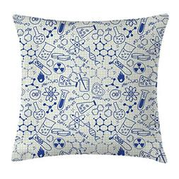 Kids Decor Throw Pillow Cushion Cover by Ambesonne, Science