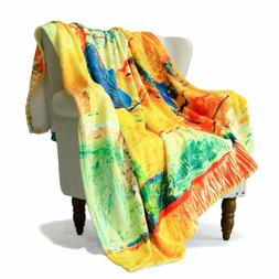 SimbaDeco Kids Decorative Sofa Bedding Throw Blanket for Liv